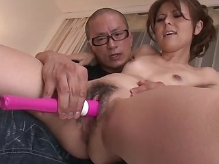 Slim Japanese lets older man in play with say no to pussy