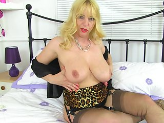 Solo girl Lucy Gresty moans while she plays involving a new bauble