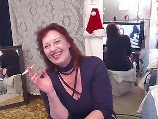 V202 Smokin hot redhead DawnSkye smokes and cums of you