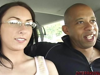 Mom hither glasses fucks Blackzilla monster black cock