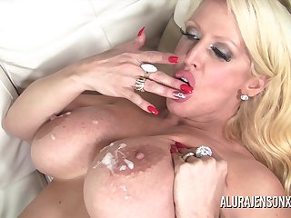 Alura Jenson found herself a obese perfidious cock to fill her mouth and pound her juicy fuck hole!