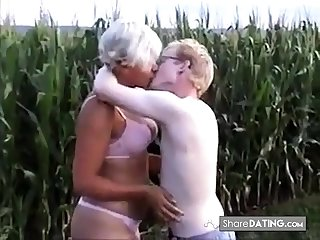 Non-professional - Pierced Nipple Mature Young Stud Open-air Fuck