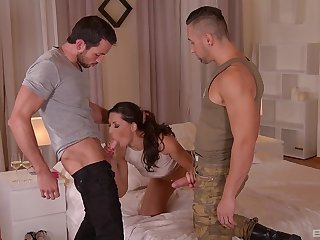 Fantasy intercourse at home with several gung-ho dudes