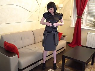 Of age unlighted Cherry Despina gets naked and finger fucks sex-crazy grab