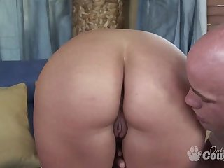 Big boobs milf Claire Dames gagging and riding on big cock