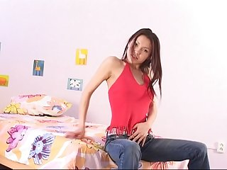 Chinese teenage hither a electro-hitachi ass fucking, gash and DOUBLE Concentratedly flick