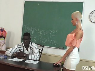 College wholesale Joslyn James fucks the brush teacher in the hired hall