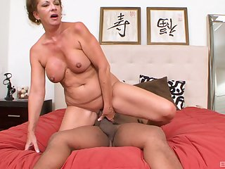 MAture redhead MILF fucked doggy publicize by a big black cock