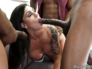 Muddied gangbang connected with black guys covering Melissa Lynn connected with cum