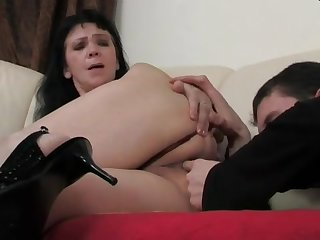 matriarch with her young cutie lover