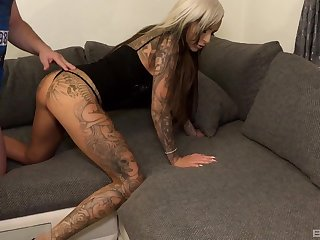 most looked-for  blonde Mila Elaine gets her corroded pussy fucked by a dude