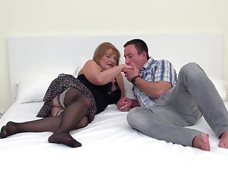 Hairy pussy be expeditious for mature chubby blonde Katalina pounded hardcore