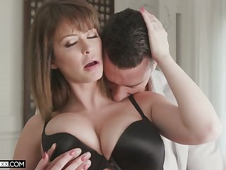 Super sexy fit together Emily Addison is fucked and jizzed by hot blooded shush