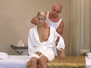 Massage leads around lustful sex