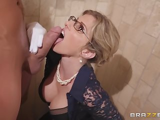 a bathroom is the favorite fuck assignment for loved Cory Chase