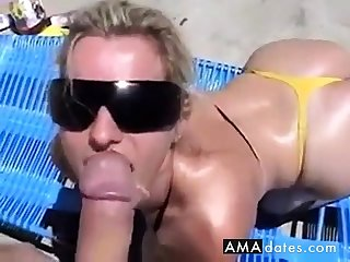 Wanking-off on Her #2 (Blonde Babe)
