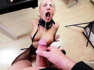 Nylon fetish trannies team up with dominatrix