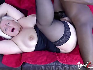 BBC boning granny in the brush sinuous white pussy