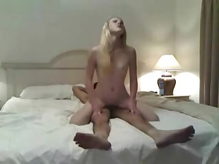 Dilettante couple delivers some hot added to sweaty sex homemade