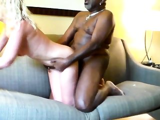 Blonde namby-pamby woman nigh black man Hardcore Interracial
