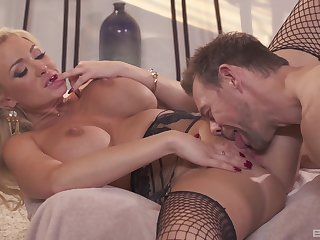 Cougar loves the hard cock smashing say no to pussy so fine
