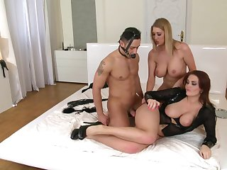Sexual perfection be beneficial to two milfs in scenes of femdom