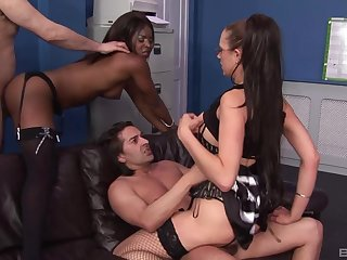 Best way hither end a fake week is by having interracial foursome sex
