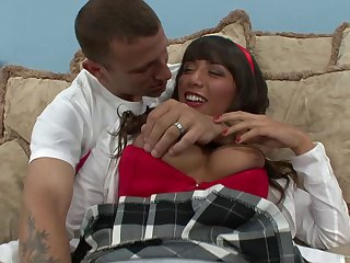 Samora Morgan in a huge learn of ride and naughty blowjob act