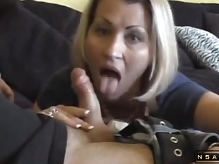 Attracting fine milf blowing and swallowing hes cum