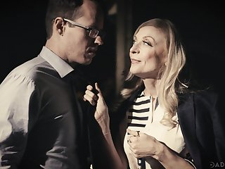 Hot cougar Nina Hartley fucks will not hear of stepdaughter's BF