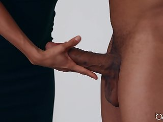 Mature pornstar Alexis Fawx teases her black join up and gets his cock