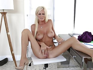 Busty unparalleled mom plays with her pussy in marvelous modes