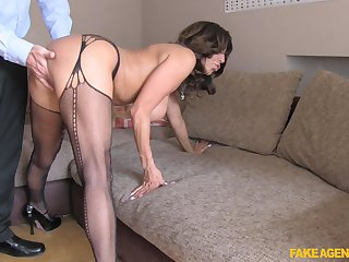 Busty mature Tara Holiday in stockings acquiring fucked foreigner behind