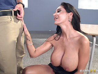 Overcast pornstar Ava Addams fucked in her pussy deep from behind