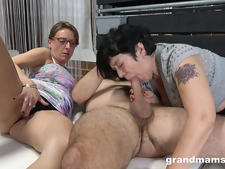 Matures share a big dick in ways they never experienced before