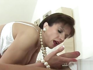 Unfaithful english milf lady sonia showcases will not hear of massive tits