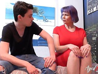 AgedLovE Arousing Youngster fucks British Mom