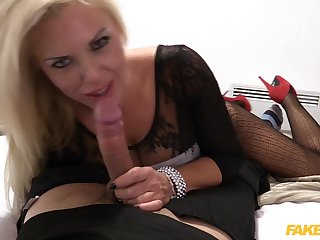 Cross blonde Aaliyah Ca Pelle fucked from servants' by a mandate cop