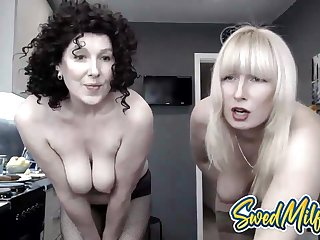 Swedish Milf Mom and Hot Daughter Show Their Pussies