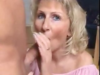 This whore loves her dirty mouth rammed full of meat and she's so insatiable