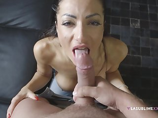 Priscilla Salerno's talented mouth mill upstairs a cock, POV style