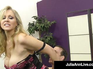 Dirty Talking Commanding Cougar Julia Ann Orders Her BoyToy!