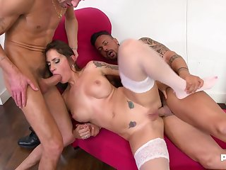 The Hungry Malena Gets Humped By Two Thick Dicks