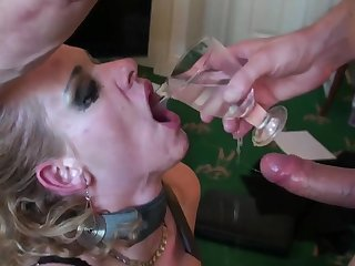 Rough mouth and pussy fucking of matured blonde Anita Vixen