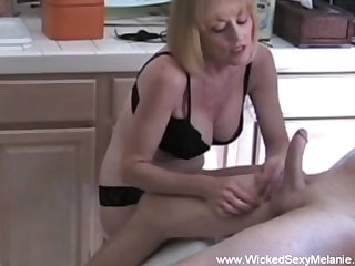 Wicked Blue Melanie loves the attention and cumshot here