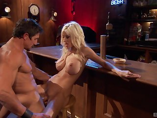 Hung dude nails Puma Swede at a bar and makes her shed tears in ecstasy