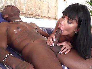 MILF loads huge black dick in both her premium holes