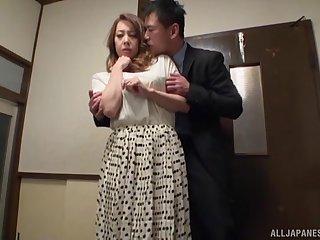 Horseshit hungry Japanese spoil Yumi Kazama knows how to pleasure a dick