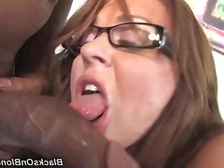 Lewd harlot incredible interracial sex