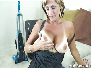 POV video be advantageous to busty wife Felicity Delicate situation on her knees huge a blowjob